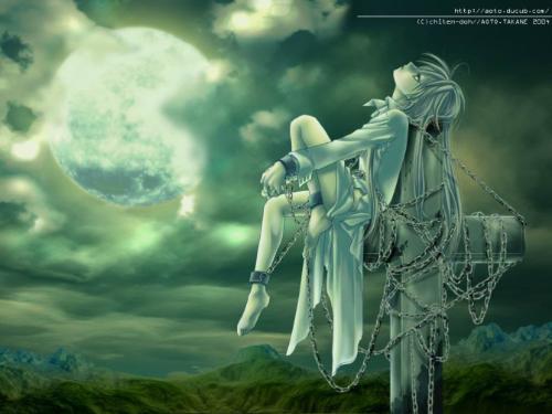 一个人仰望天空图片 美女45度角仰望天空