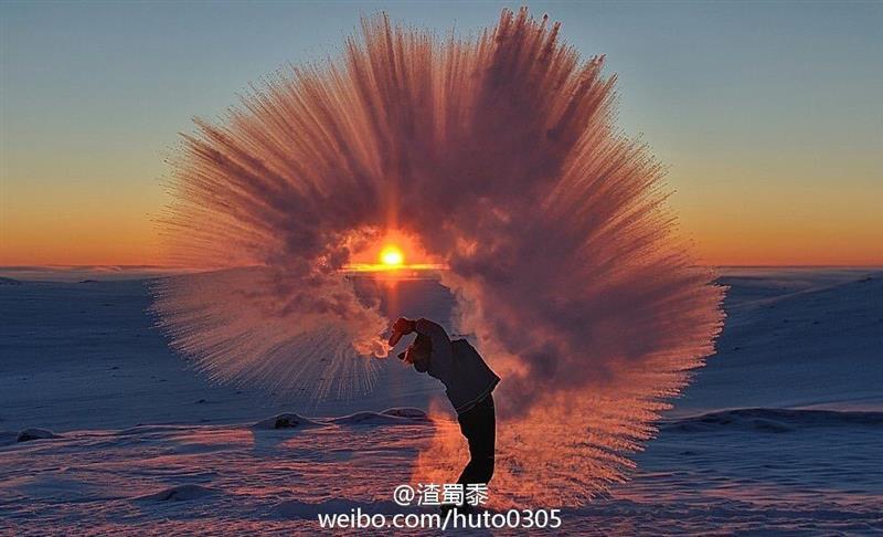 零下40度甩出一瓶热水是什么体验?