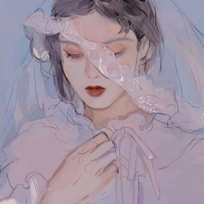 唐崎夜雨/二次元丧系女生头像