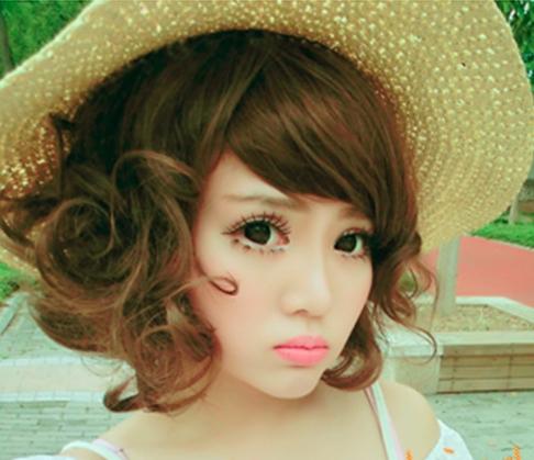 韩式短发蛋卷头打造甜心小美人