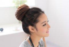 最好看的日系丸子花苞头假发图片