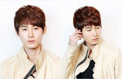 韩版男士短发烫发发型图片