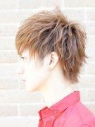男生帅气浅亚麻色头发图片