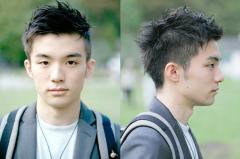 男生两边剃掉的发型设计图片