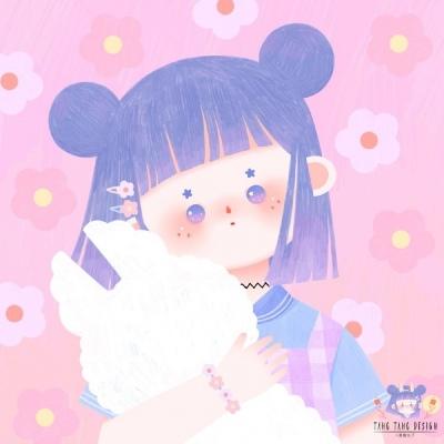 少女插画头像 萌系 清新 可爱 甜美 少女