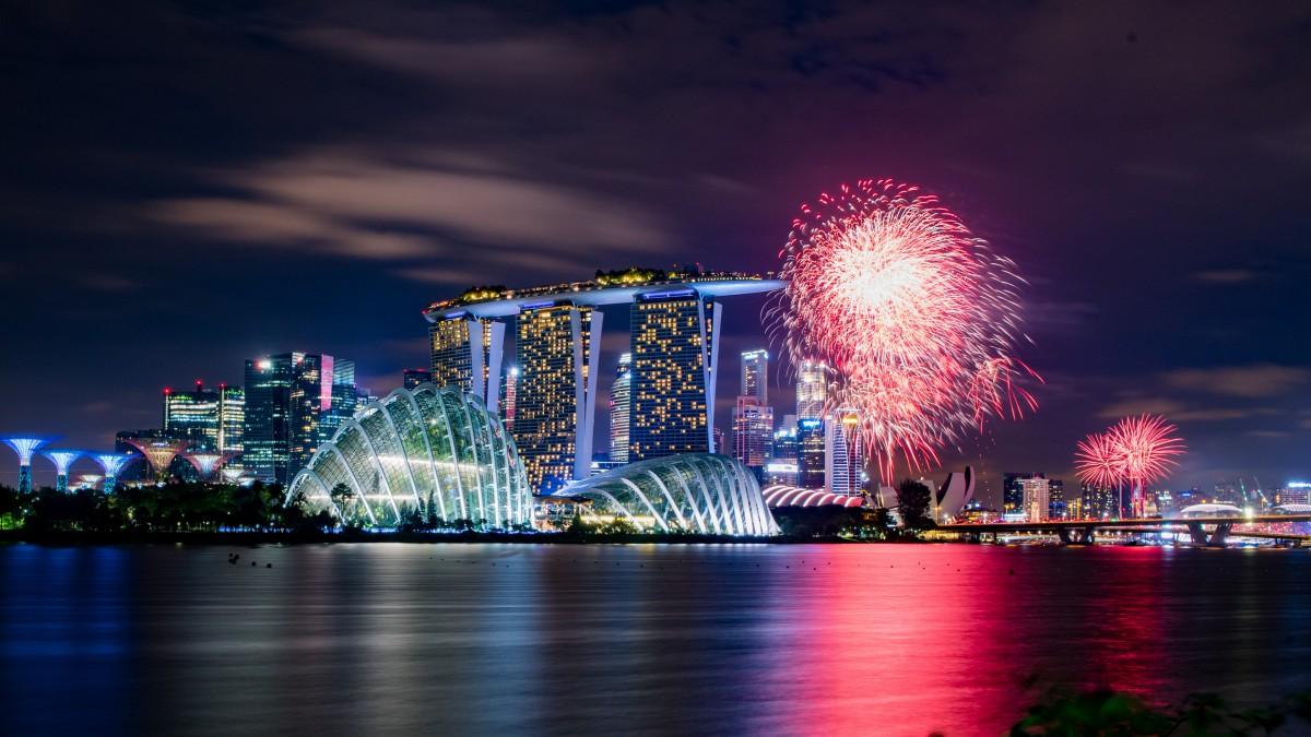 新加坡高清夜景图片