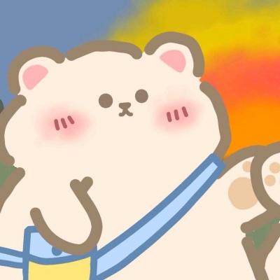 手绘可爱卡通小熊兔兔情头 陪你可可爱爱