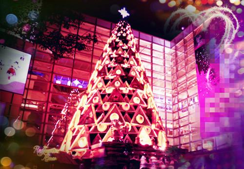 浪漫圣诞节唯美意境素材_漂亮奇特的圣诞树