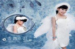 带翅膀的天使小孩图片