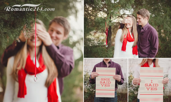 简简单单的蒙眼求婚创意图片
